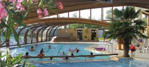 The Covered And Heated Pool Of The Campsite La Brande, On Oléron Island La  Brande